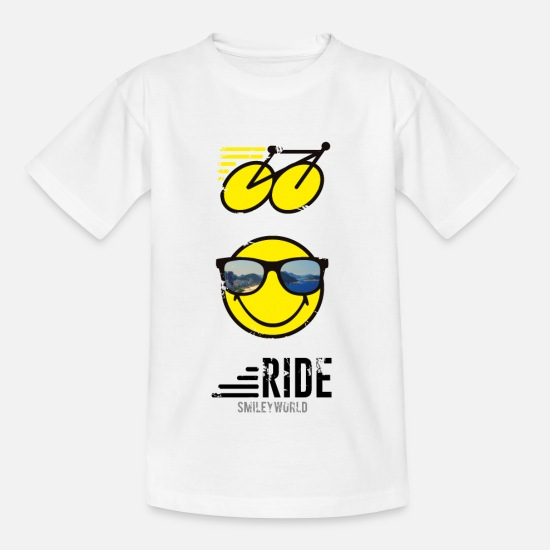 Sports T-Shirts - SmileyWorld RIDE Bike - Teenage T-Shirt white