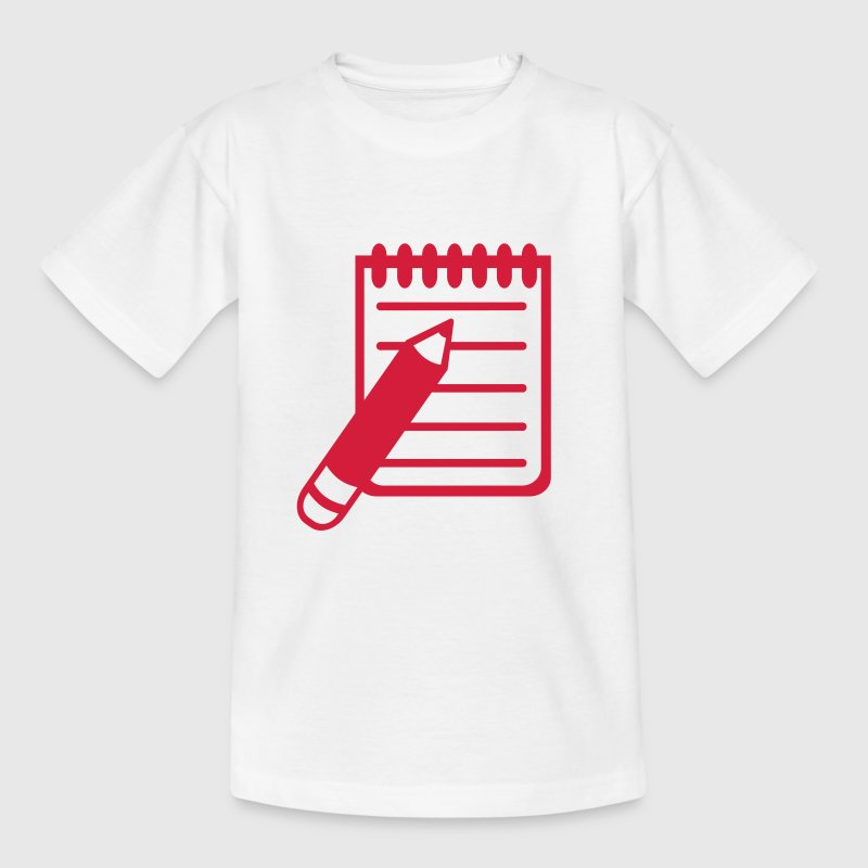 Zettel Notiz Stift - Teenager T-Shirt