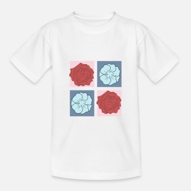 Flower Power Flower Power flowers in square - Teenage T-Shirt