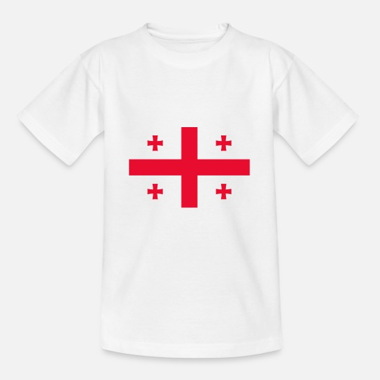 Country T-shirts - Georgia flag - T-shirt teenager hvid