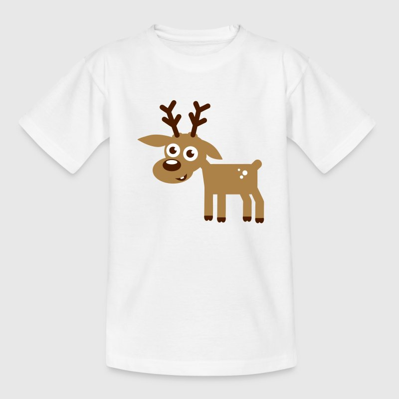Rentier Weihnachten Comic - Teenager T-Shirt