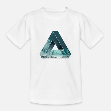 Penrose Optical illusion with nature, cool - Teenage T-Shirt