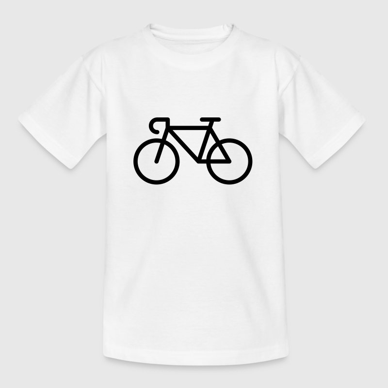 Bicyclette / Vélo De Course (Icone / Pictogramme) - T-shirt Ado