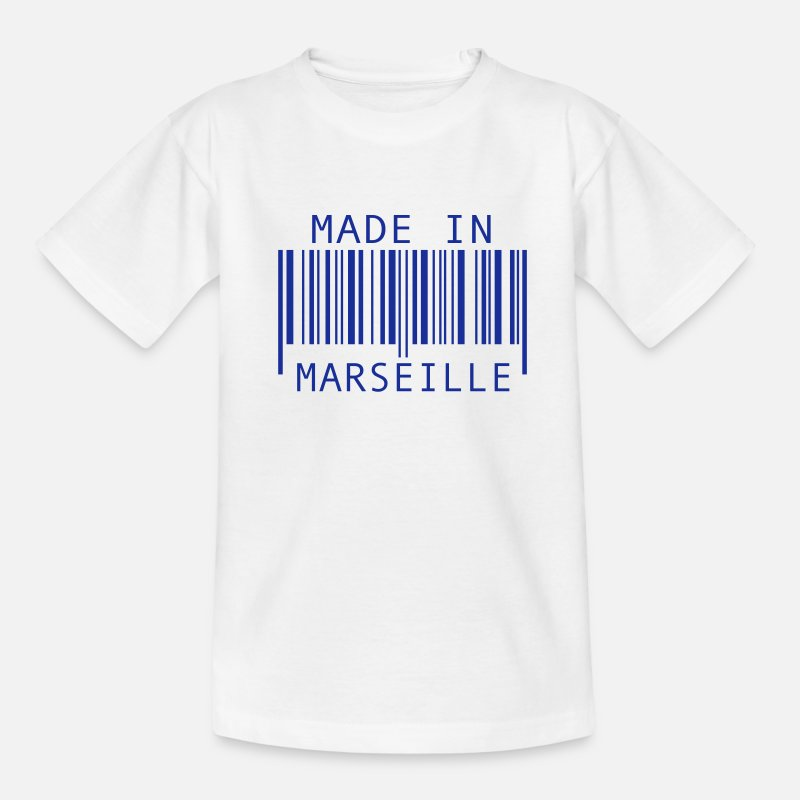 Marseille T-shirts - Made in Marseille - T-shirt Ado blanc