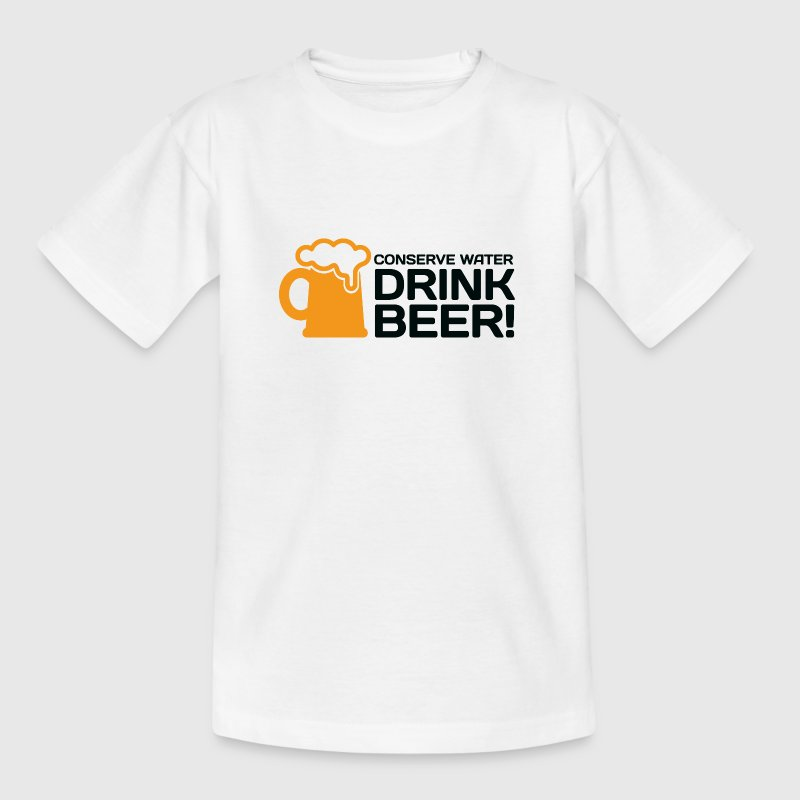 Let us save water. Drink more beer! - Teenage T-shirt
