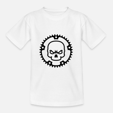 Electric Bike Cycling skull - Teenage T-Shirt