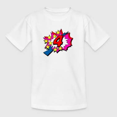 POP Star is 4 years old - Teenage T-Shirt