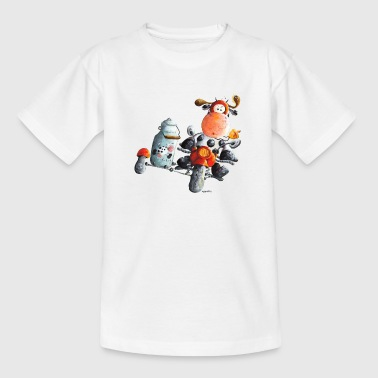 Milchexpress - Motorrad - Kuh - Cartoon - Teenager T-Shirt