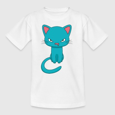 Angry Kawaii Cat - Teenager T-Shirt