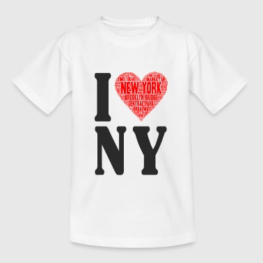 I Love NY - Teenager T-Shirt