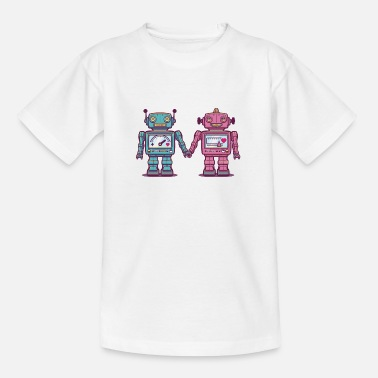 First Day Of School Loving Robots - Teenage T-Shirt