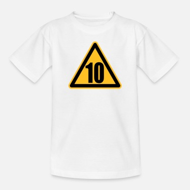 10 Warning 10 | Achtung 10 - Teenage T-Shirt