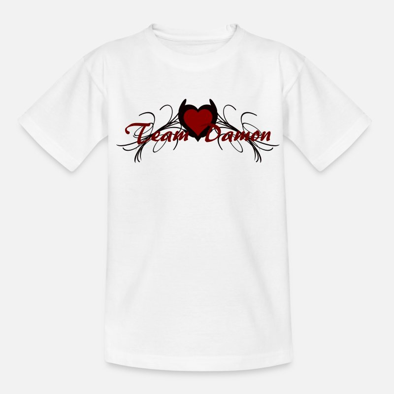 Team T-Shirts - team damon - Teenager T-shirt wit