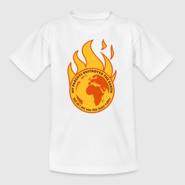 My parents destroyed the Earth - Teenage T-Shirt