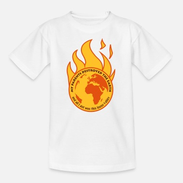 Destroyed My parents destroyed the Earth - T-shirt tonåring