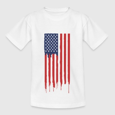 Amerika Graffiti Flagge - Teenager T-Shirt