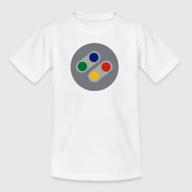 Retro SNES Buttons - Teenage T-Shirt