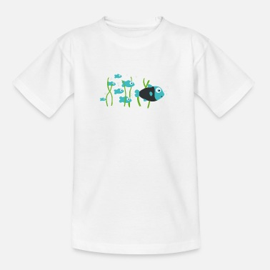Scuba Diving fish - Teenage T-Shirt