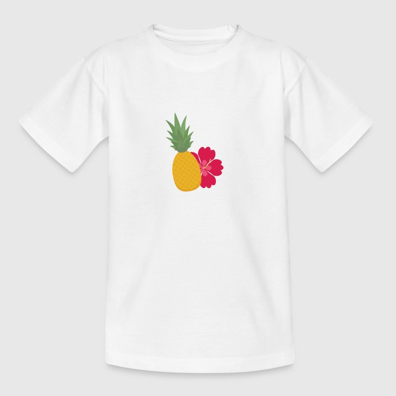 Ananas blomst - Teenager-T-shirt