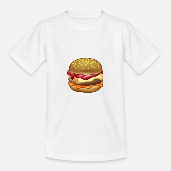 Cheeseburger T-shirts - STYLE BURGER - T-shirt teenager hvid