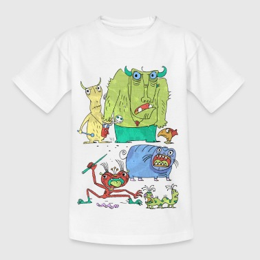 Monster family  t-shirt - Teenage T-shirt