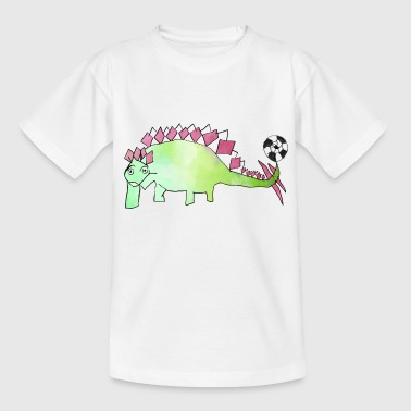 Voetbal Dino: Evergreen Stego door Hey Kids! - Teenager T-shirt