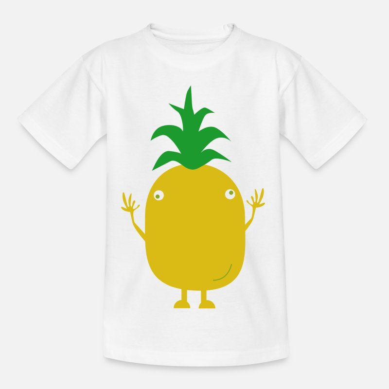 Bestsellers Q4 2018 T-Shirts - pineapple - Teenage T-Shirt white
