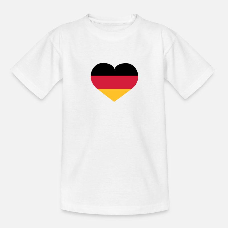 Heart T-Shirts - Deutschland Herz | Herz | Heart - Teenage T-Shirt white