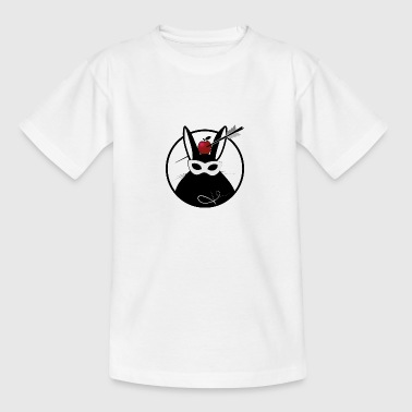Arrows Swag Bunny with apple and arrow patch - Teenage T-Shirt