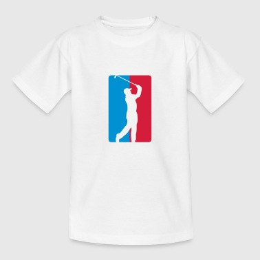 Golf Logo Golf Silhouette Logo 2C - Teenage T-Shirt