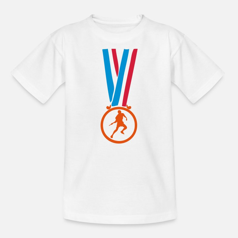 Table T-shirts - champion medaille ping pong tennis table - T-shirt Ado blanc