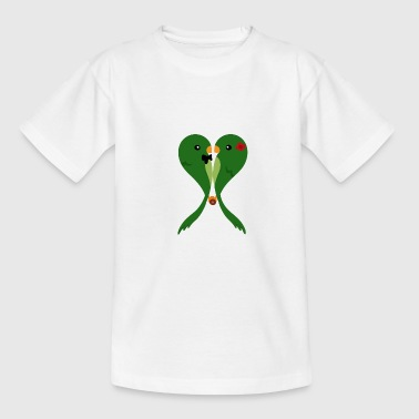 Parakeets in love - Teenage T-shirt