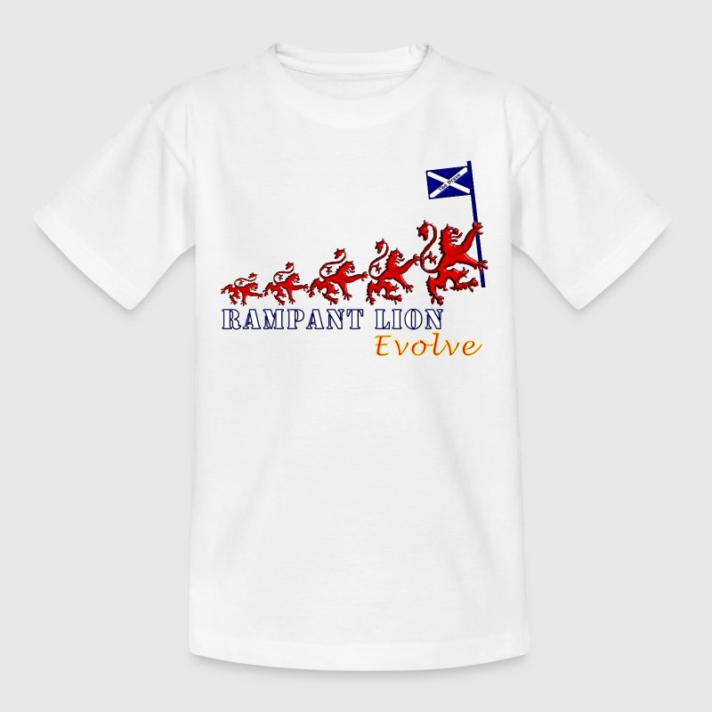 Rampant Lion Evolution Scotland - Teenage T-shirt