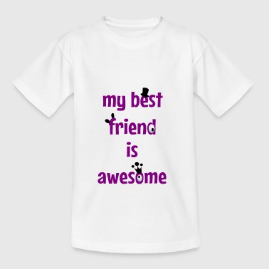 My best friend is awesome - Maglietta per ragazzi
