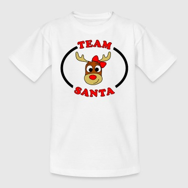 rentier female team santa - Teenager T-Shirt