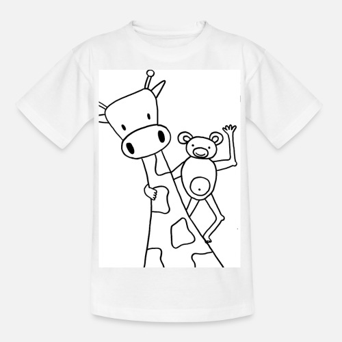 Kleurplaten Giraffen En Olifanten.Kleurplaat Giraf Aap Teenager T Shirt Spreadshirt