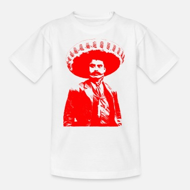 Emiliano Emiliano Zapata - roter einfarbiger Druck - Teenager T-Shirt