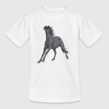 Black Horse - Teenage T-shirt