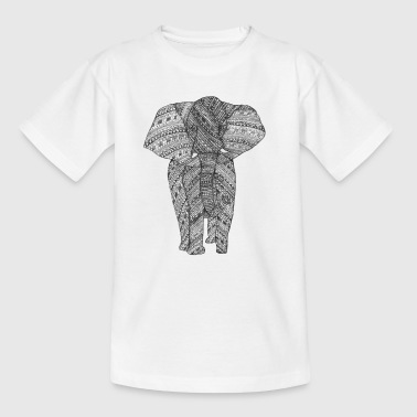 Olifant zwart/wit - Teenager T-shirt