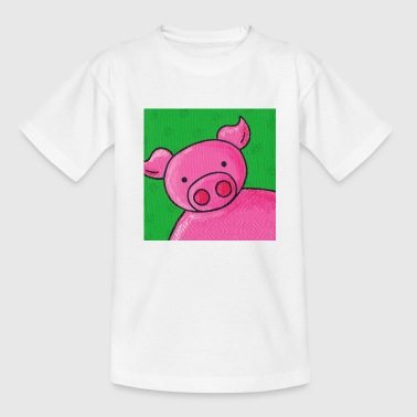 varken, groen, roze - Teenager T-shirt