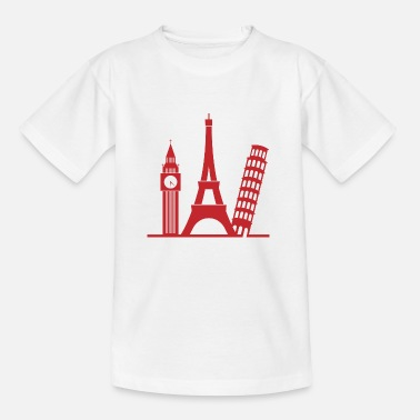 Landmassa Europe / London / Parijs / Pisa - Teenager T-shirt