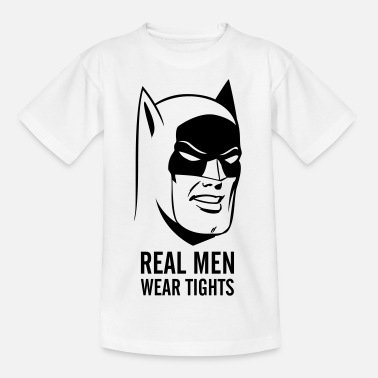 Sjove Batman Real Men Wear Tights - T-shirt teenager