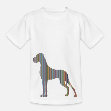 Dogge in Farbe DIGITALDRUCK - Teenager T-Shirt