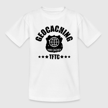 geocaching - 5000 caches - TFTC / 1 color - T-shirt tonåring