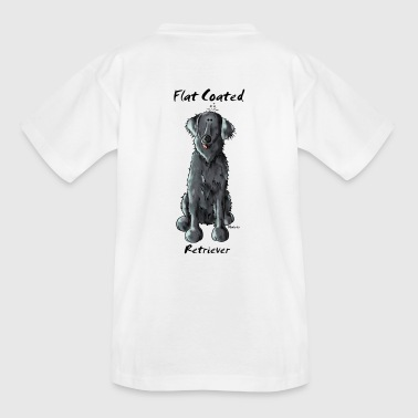 Funny Flat Coated Retriever - Teenage T-shirt