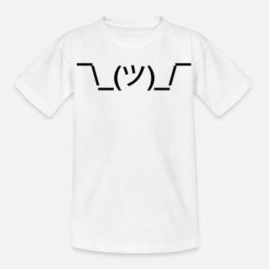 Geek shruggy Smiley ahnungslos Meme nerd emoticon smile - Teenage T-Shirt