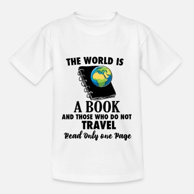 Travel Bug Book Travel Travel Bug reading world travel - Teenage T-Shirt