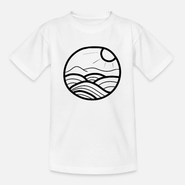 Swell ocean illustration wave water surfer - Teenage T-Shirt