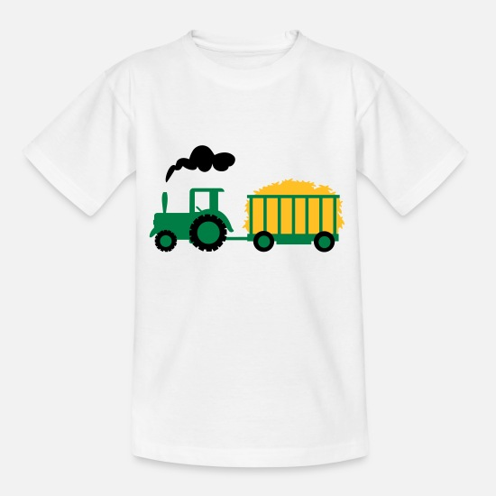 Tractor T-Shirts - tractor - Teenage T-Shirt white