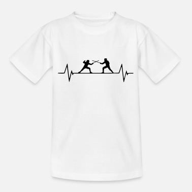 Ausschlag EKG Fecht Passion - Teenager T-Shirt